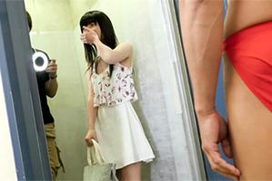 扉開けるとムキムキの男優…絶対的美少女を即ハメドッキリ!