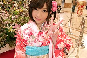 (キャッチTV)りか 20才。原宿の成人式でキャッチしたDカップのモデル女子大学生