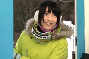 【素人】真冬のゲレンデで見つけた能年玲奈クリソツ美少女