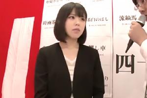 メッチャ公務員っぽい、お堅そうな黒髪美女が四十八手素股ゲーム!!