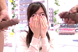 (MM号)デカチンに赤面する早大政経学部のエリート女子大学生とサンピー☆