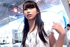 【素人】秋雨の渋谷でナンパした超絶美巨乳の販売員をハメ撮り!