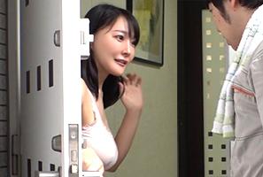 エアコンの出張修理で女子大の寮を訪問したらノーブラ巨乳天国!