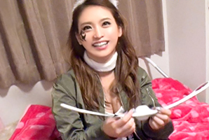 【素人】渋谷ハロウィンで終電逃した巨乳バニーガールとナンパSEX!