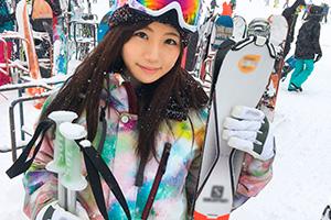 新潟のスキー場でナンパした美巨乳OLを旅館でハメ撮り