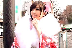 【成人式ナンパ】晴れ着姿が可愛すぎる美巨乳大学生を即ハメ!