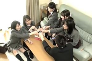 全員Fcup以上!名門女子校のJKに王様ゲームで中出し三昧!
