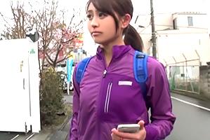 【素人】日課のランニングをしてた巨乳体育大生と下宿先でSEX!