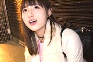 【素人】渋谷駅で雨宿りしていた清楚爆乳女子大生とナンパセックス!