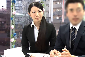 【同僚と中出しSEXできたら30万】製薬会社の美人OLが挑戦!!