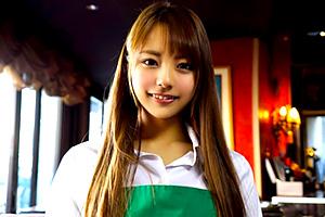 河南実里 お洒落なカフェで働く美人アルバイトがAVデビュー!