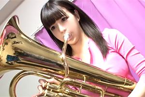 【素人】吹奏楽部時代に鍛えたGcupの張りが凄い中学校の事務