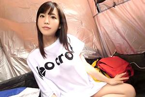 【キャンプ場ナンパ】超美乳の激カワ経営学部生をテントで即ハメ!