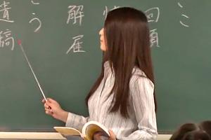 美人な国語教師がガチで調教される・・・