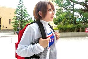 【素人】早稲田大の学内で身長147cmの爆乳チア部をナンパ!