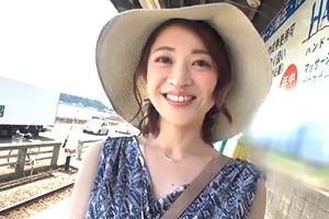 【素人】風薫る初夏の鎌倉で透明感抜群の43歳人妻をナンパ!