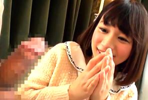 「おっきい…」センズリ鑑賞で興奮した女子大生が本番懇願!