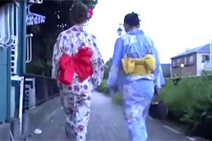 日本の夏、レイプの夏。夏祭りで美女の浴衣剥ぎ取って犯す!