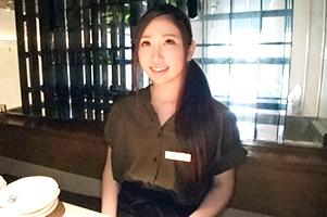 【素人】麻布の高級もつ鍋屋でむちむちパイパン店員をナンパ!
