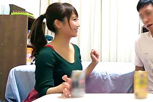 【盗撮】呑み屋でナンパした巨乳&色白&ポニテのダンス講師連れ込み!