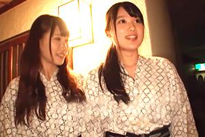 箱根で温泉旅行中の素人大学生が中出し1発10万円の逆夜這いミッション!