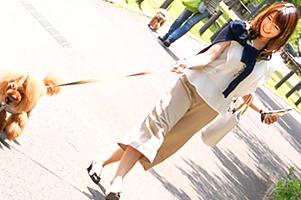 愛犬散歩するセレブ人妻を拉致して家賃4万のヤリ部屋で調教!