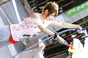 練馬の住宅街で休日の洗車ギャルをナンパ!車内フェラ→Gカップボディをハメ撮り!
