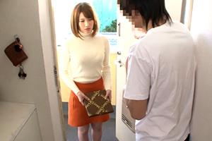 隣の夫婦の喘ぎ声がうるさくて壁ドンしてたら嫁が謝罪に来たけど反省してないから犯す!