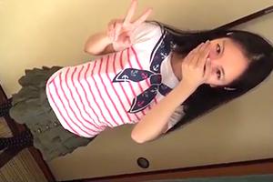 【個人撮影】彼氏との初エッチのためにオヤジと円光で練習する夏休みのつるぺた少女!
