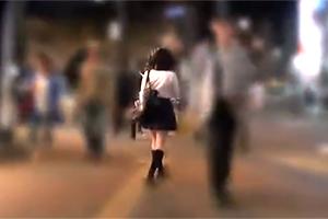 日本有数の繁華街「池袋」でひとり歩く女子校生を車で拉致!恐怖で失禁するJKを容赦なく輪姦!
