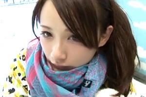 【素人】高橋由美子似!カップルで今年初滑りに来てた美人Fカップスノーボーダーに彼氏の前で中出し!