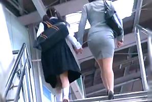 【一部始終】毎朝通勤電車で見かける中×生とナイスBODYママを駅から尾行してレイプ!
