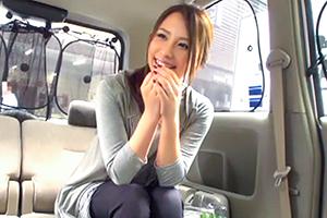 【人妻ナンパ】車内でチ○コをペロリ♡買い物帰りのメチャクチャ綺麗な人妻をナンパ!ホテルでハメ撮り3P!