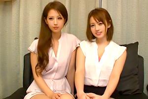 【センズリ鑑賞】エロそうなお姉さんたちをナンパ!ノリで二人仲良くチンポを鬼フェラ!