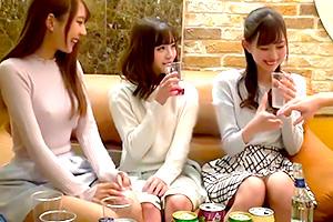 【素人ナンパ】美少女女子大生をラブホに連れ込んでエッチなほろ酔い王様ゲーム!