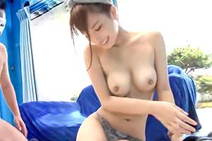 【マジックミラー号】可愛い顔して負けず嫌いな地元の美少女にセックス交渉!